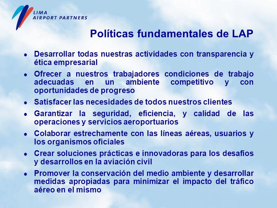 Políticas fundamentales de LAP