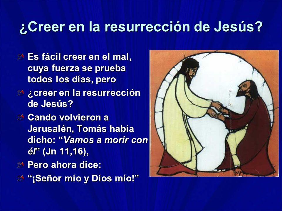 ¿Creer en la resurrección de Jesús