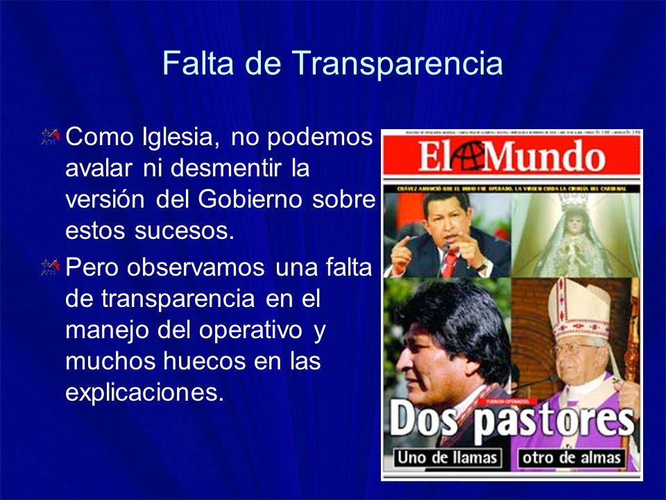 Falta de Transparencia