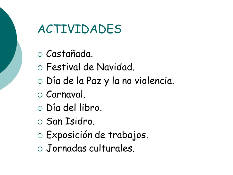 ACTIVIDADES Castañada. Festival de Navidad.
