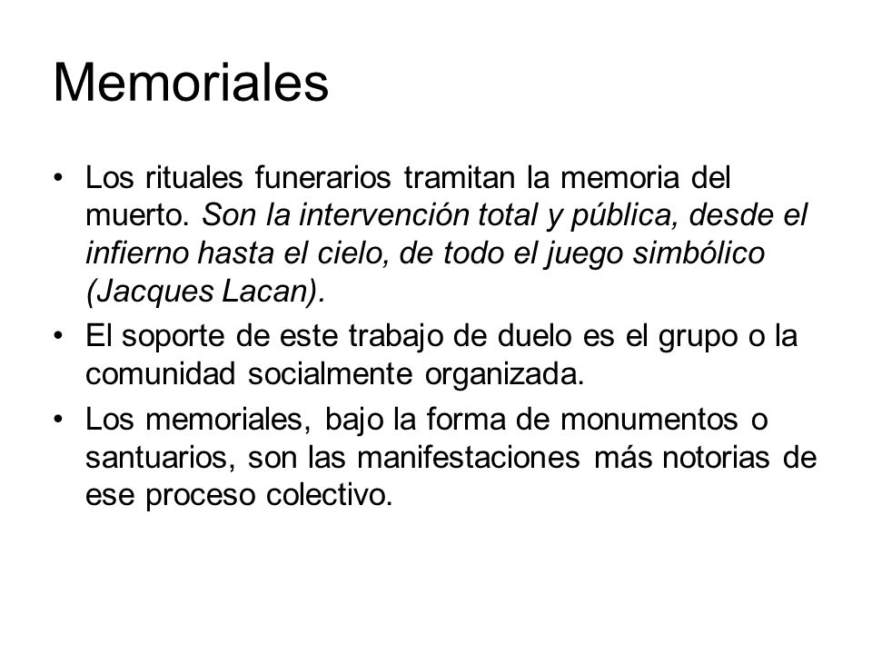 Memoriales