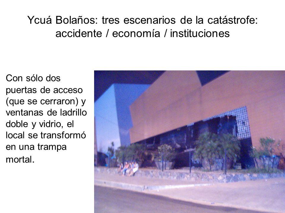 Ycuá Bolaños: tres escenarios de la catástrofe: accidente / economía / instituciones