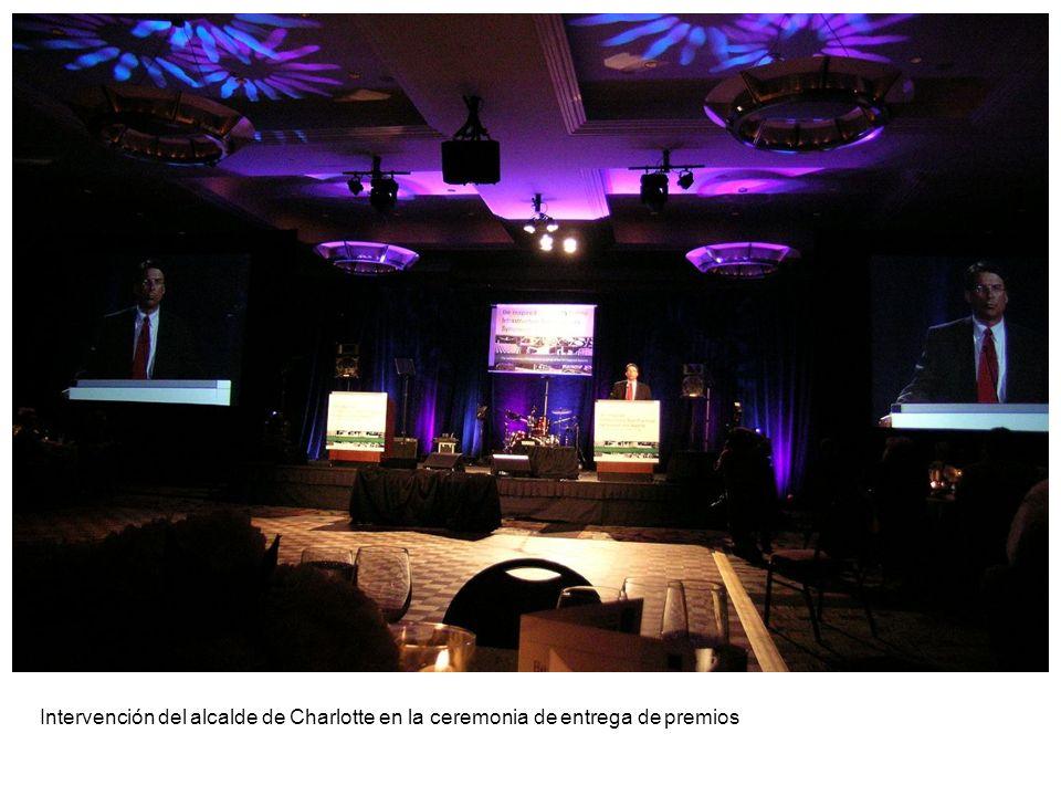 Intervención del alcalde de Charlotte en la ceremonia de entrega de premios