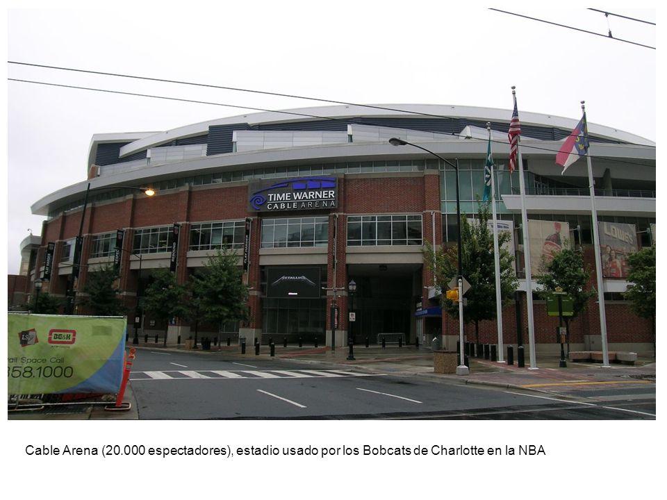 Cable Arena (20.000 espectadores), estadio usado por los Bobcats de Charlotte en la NBA