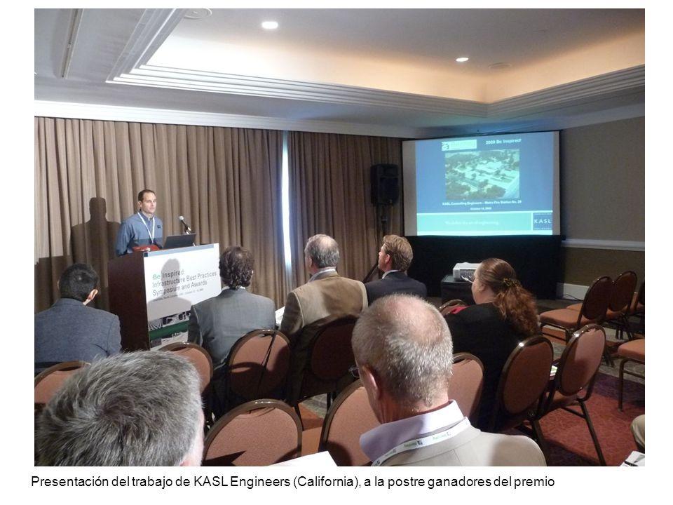 Presentación del trabajo de KASL Engineers (California), a la postre ganadores del premio
