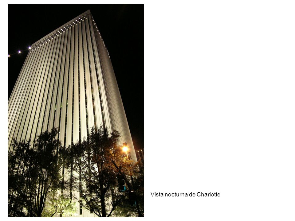 Vista nocturna de Charlotte