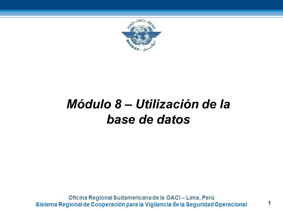 Módulo 8 – Utilización de la base de datos