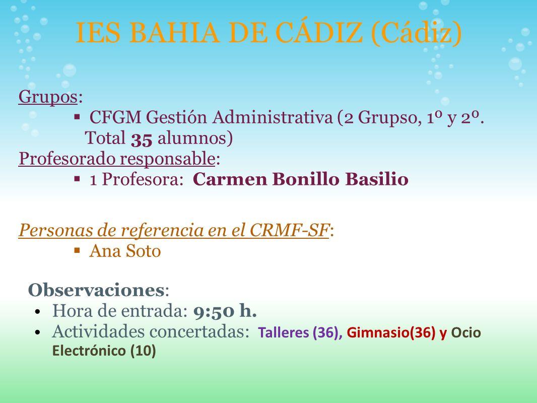 IES BAHIA DE CÁDIZ (Cádiz)