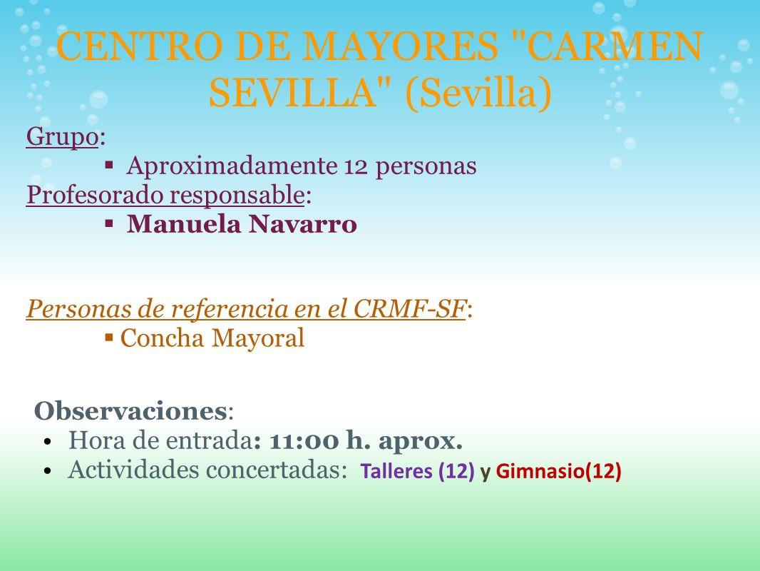 CENTRO DE MAYORES CARMEN SEVILLA (Sevilla)