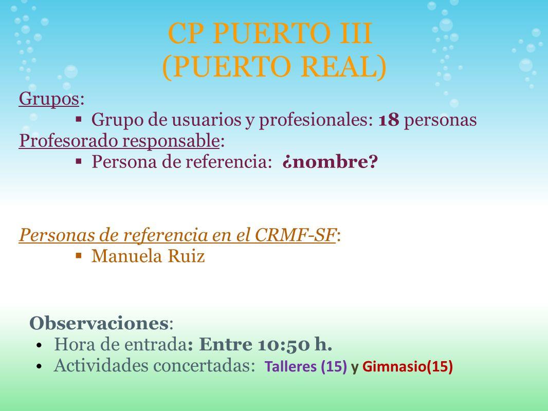 CP PUERTO III (PUERTO REAL)