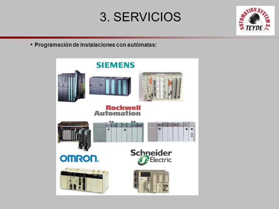 3. SERVICIOS Programación de instalaciones con autómatas:
