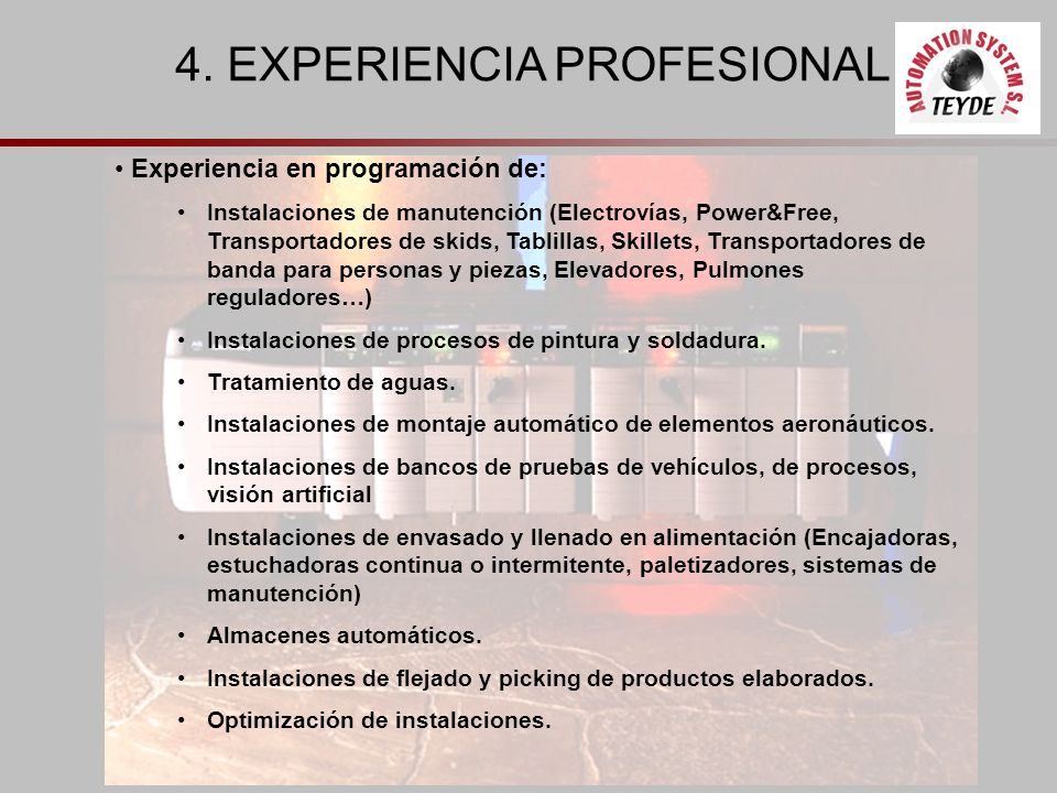 4. EXPERIENCIA PROFESIONAL