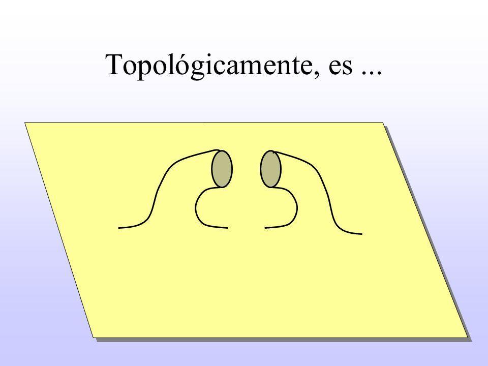 Topológicamente, es ...