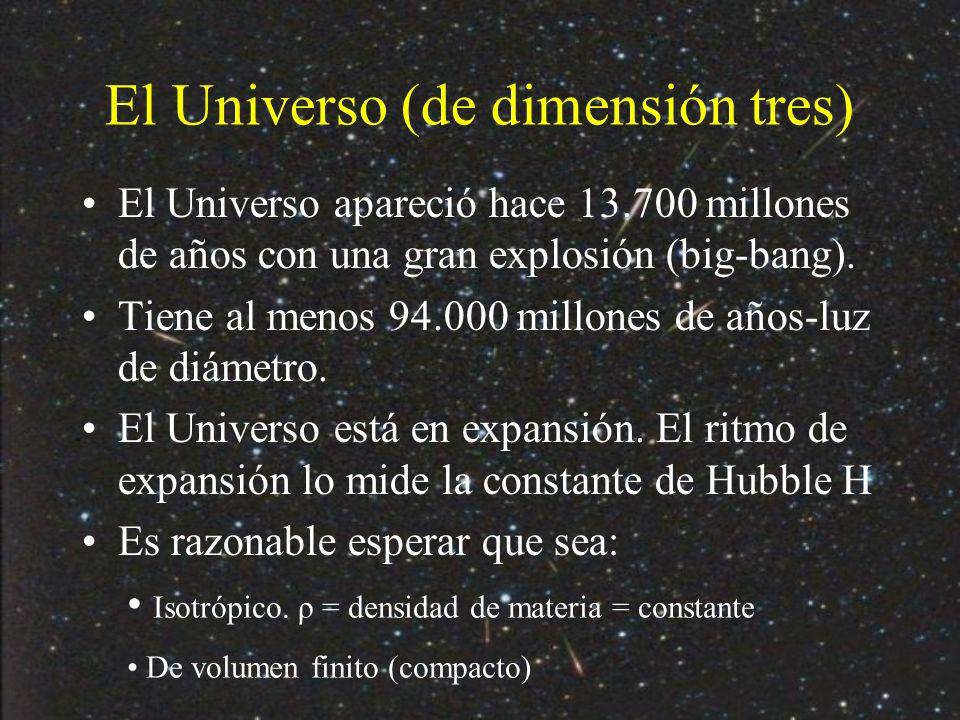 El Universo (de dimensión tres)