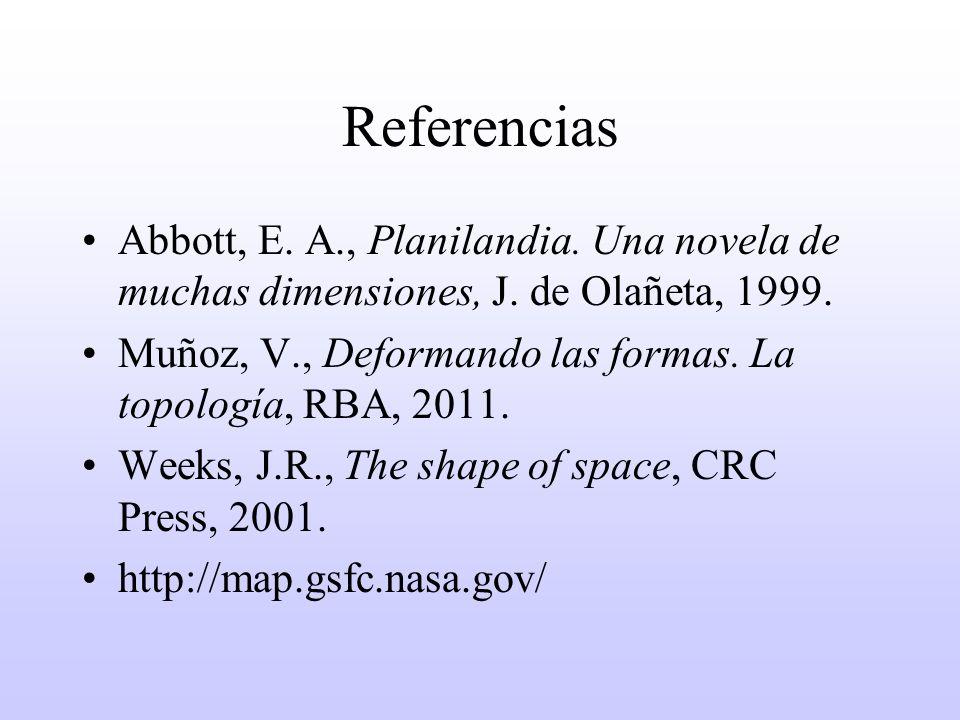 Referencias Abbott, E. A., Planilandia. Una novela de muchas dimensiones, J. de Olañeta, 1999.
