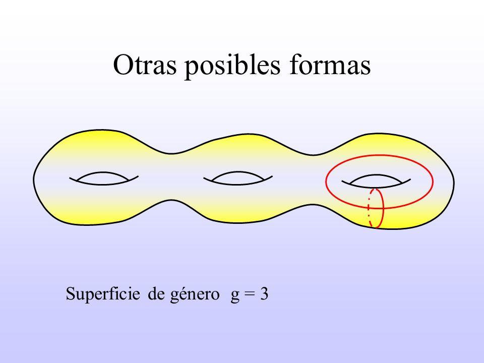 Otras posibles formas Superficie de género g = 3