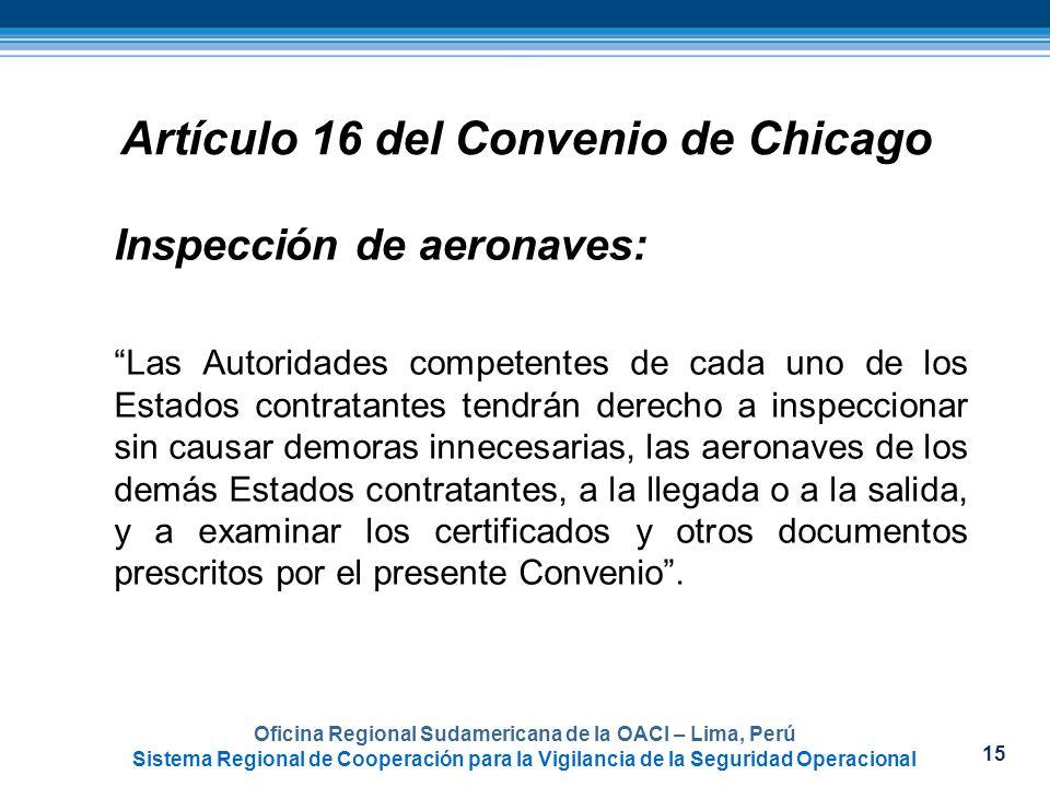 Artículo 16 del Convenio de Chicago