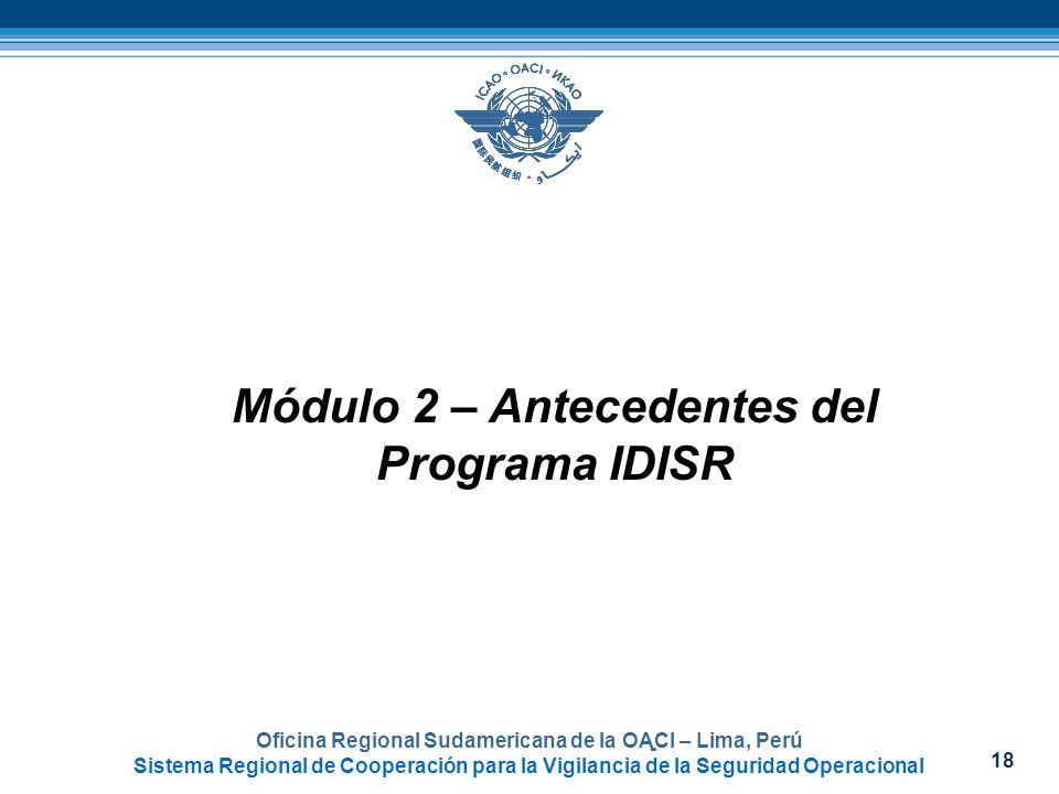 Módulo 2 – Antecedentes del Programa IDISR