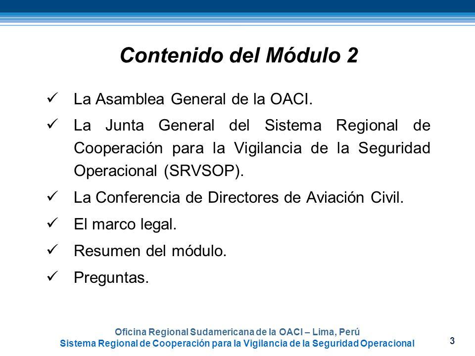 Oficina Regional Sudamericana de la OACI – Lima, Perú