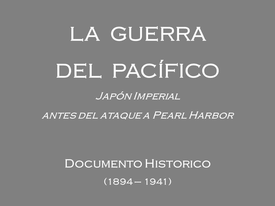 antes del ataque a Pearl Harbor