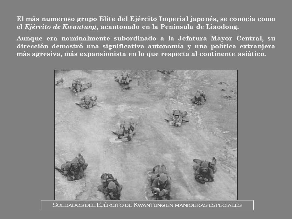Soldados del Ejército de Kwantung en maniobras especiales
