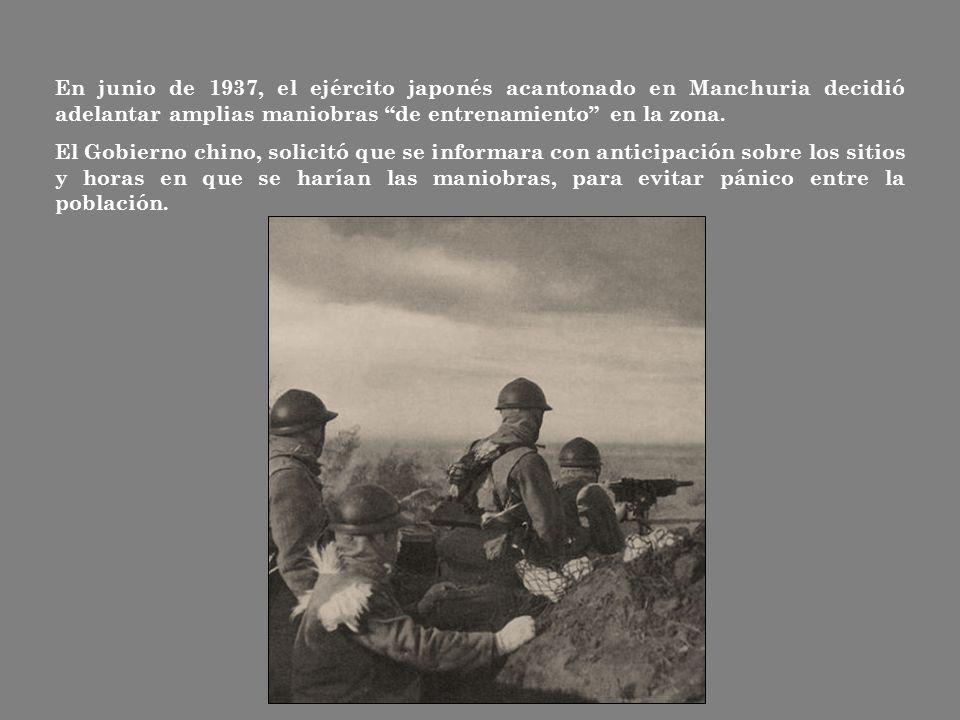 En junio de 1937, el ejército japonés acantonado en Manchuria decidió adelantar amplias maniobras de entrenamiento en la zona.