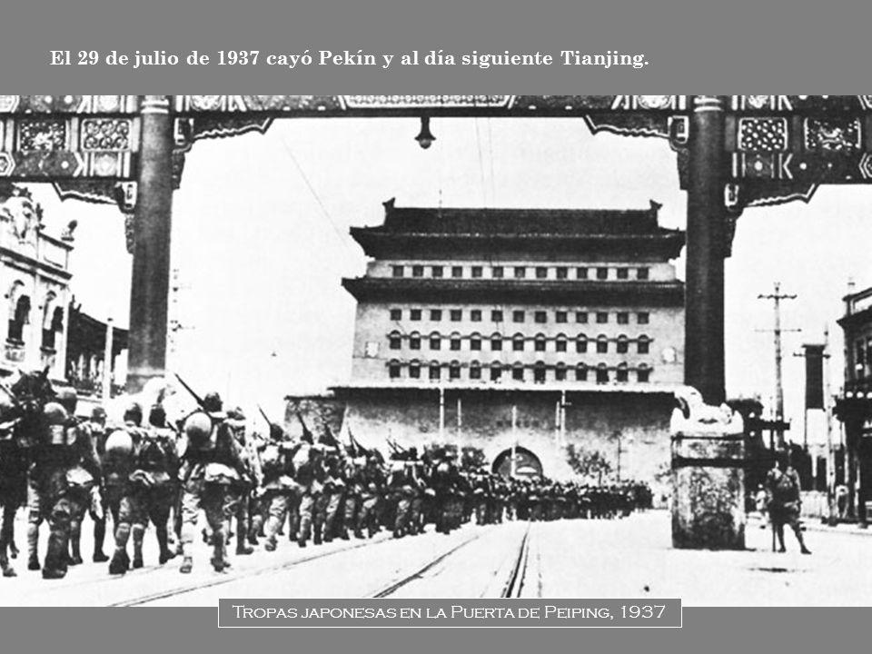 Tropas japonesas en la Puerta de Peiping, 1937