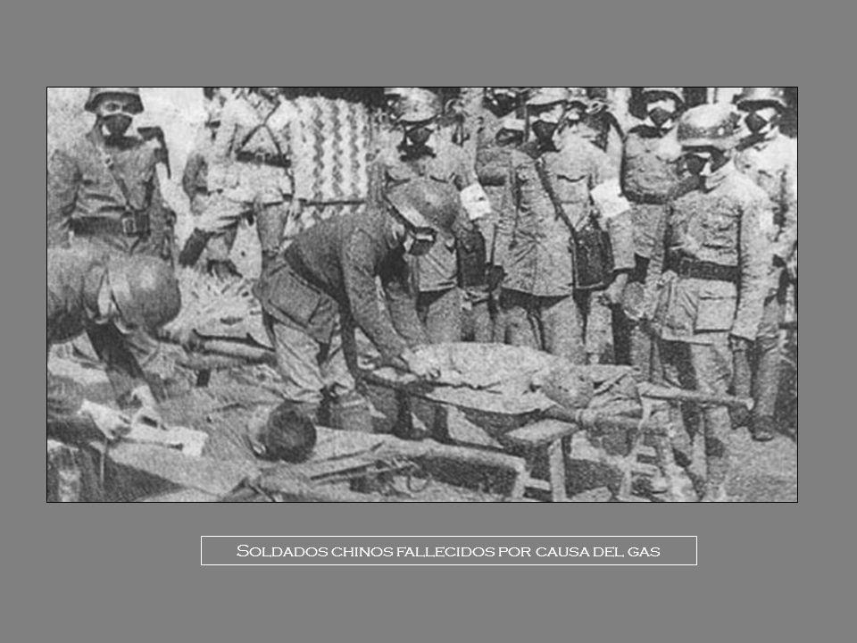 Soldados chinos fallecidos por causa del gas