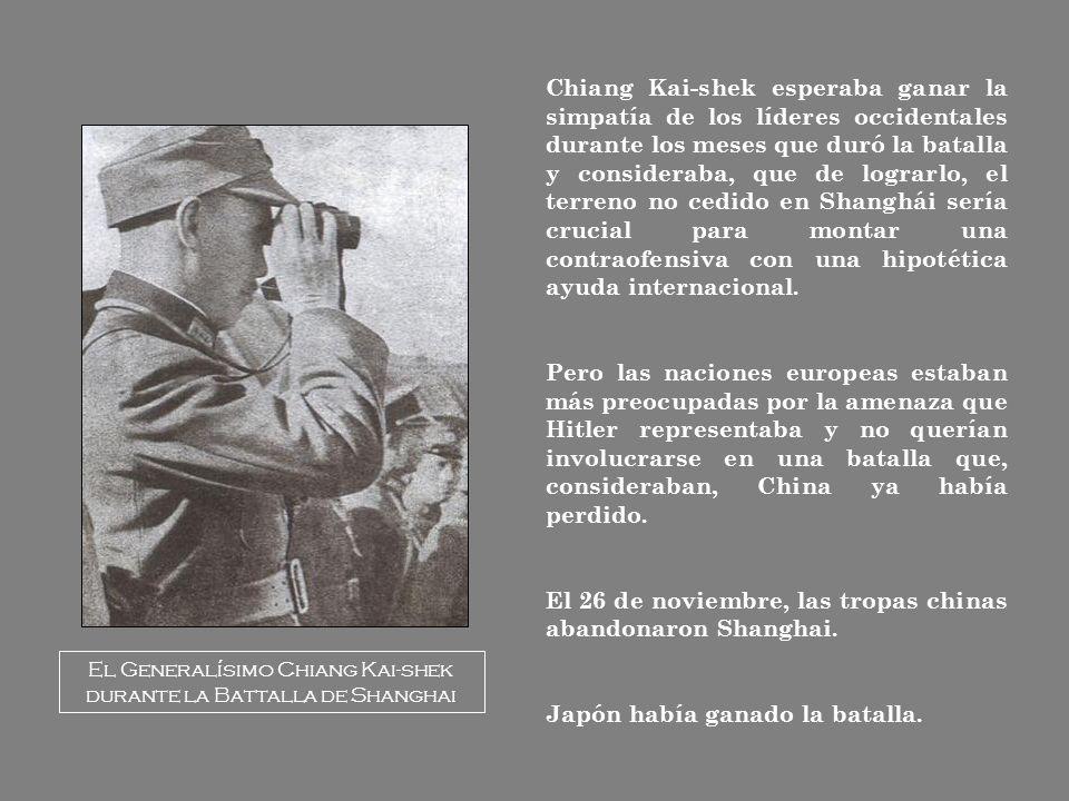 El 26 de noviembre, las tropas chinas abandonaron Shanghai.