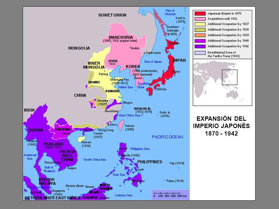 EXPANSIÓN DEL IMPERIO JAPONÉS 1870 - 1942