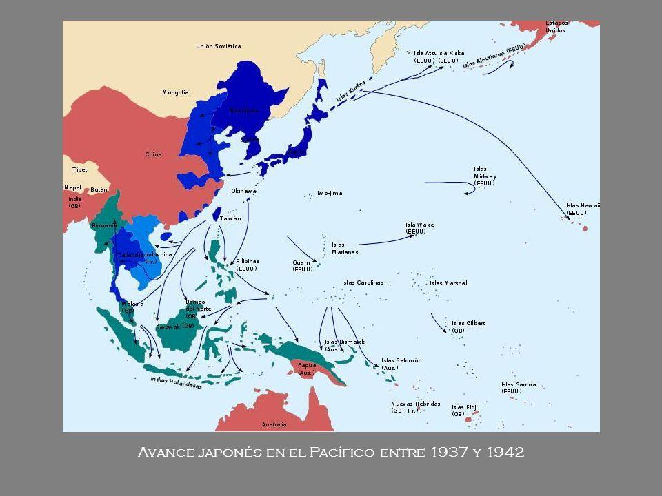 Avance japonés en el Pacífico entre 1937 y 1942