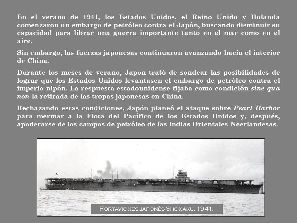 Portaviones japonés Shokaku, 1941.