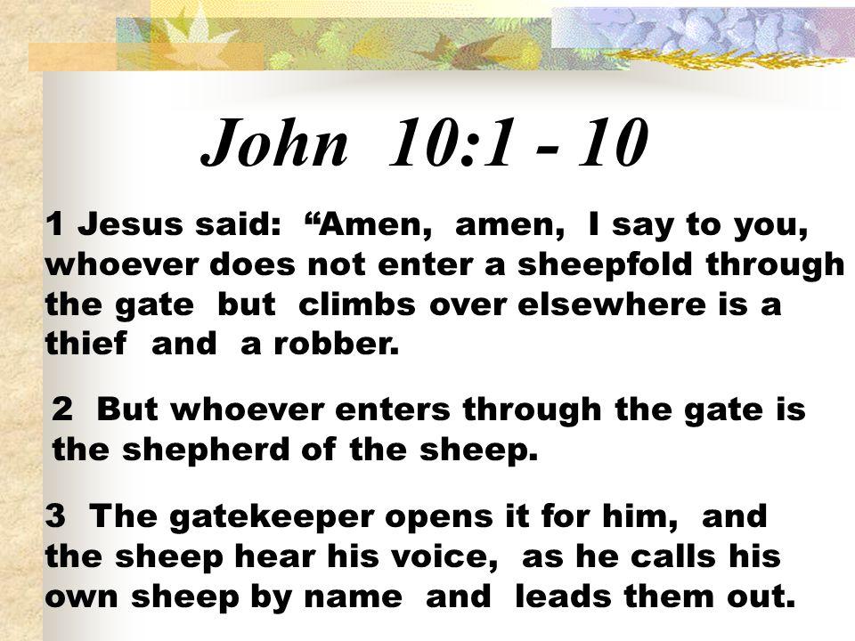 John 10:1 - 10