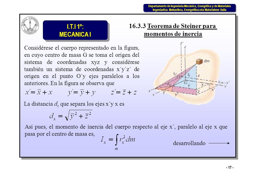 16.3.3 Teorema de Steiner para