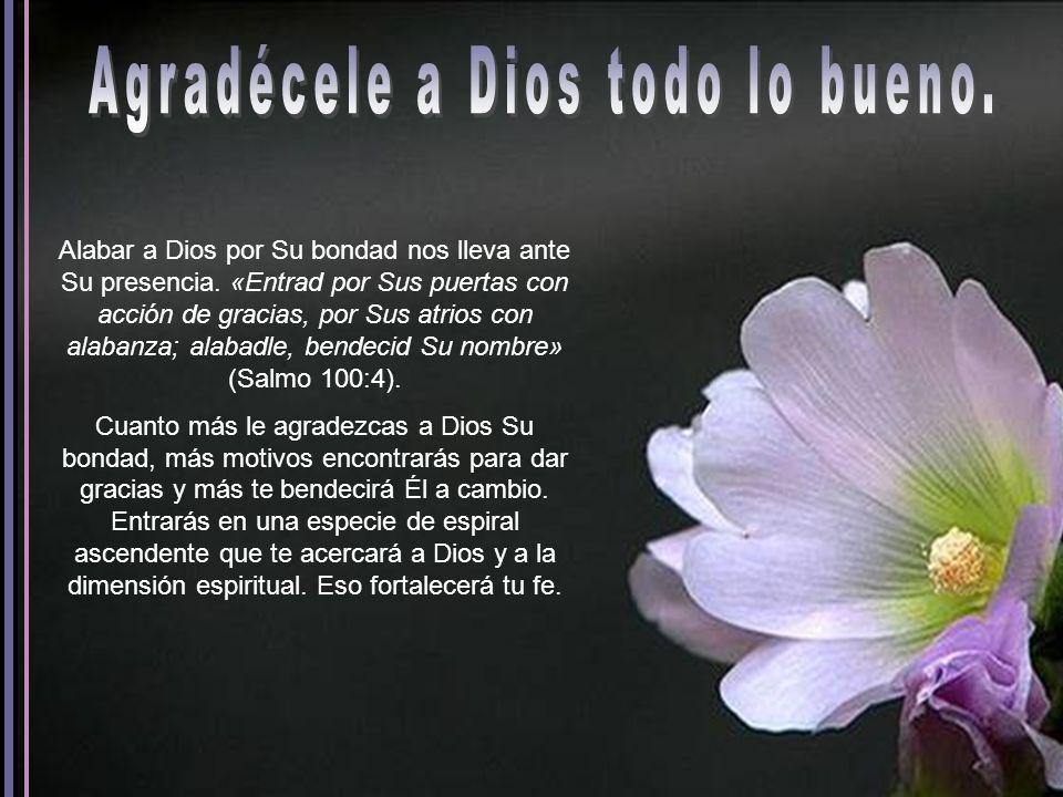 Agradécele a Dios todo lo bueno.