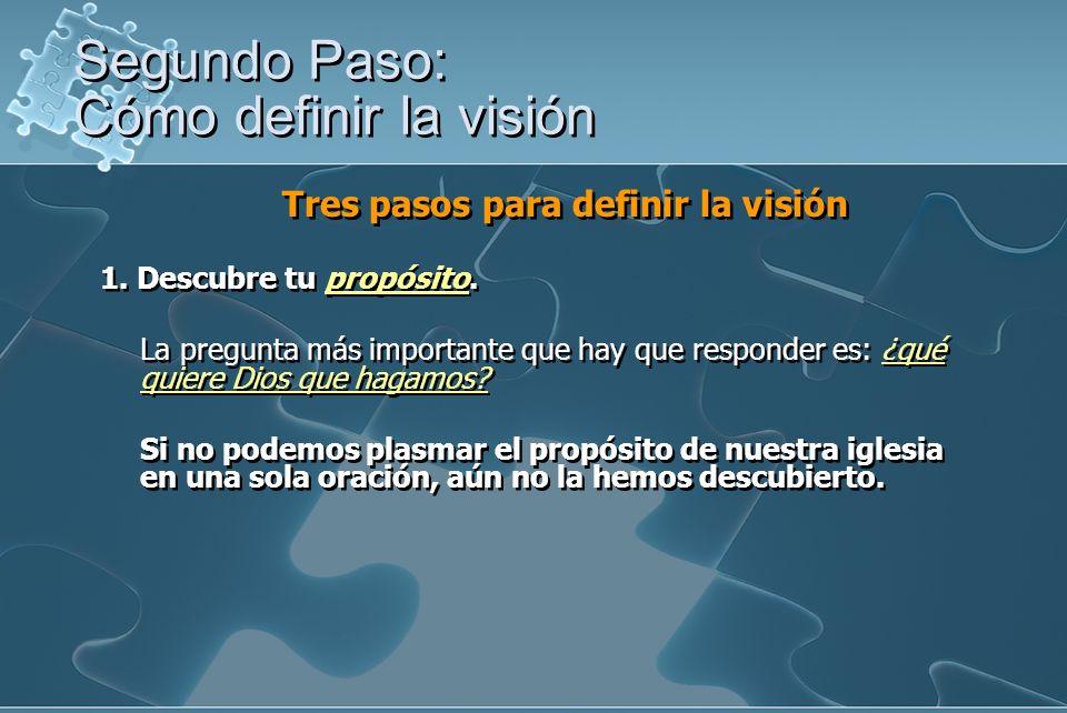 Segundo Paso: Cómo definir la visión