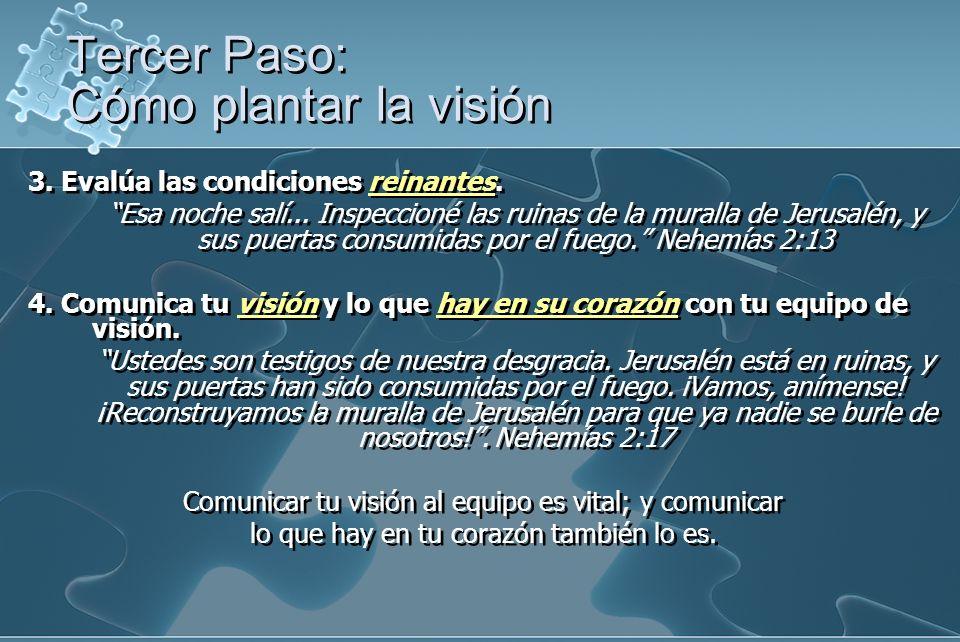 Tercer Paso: Cómo plantar la visión
