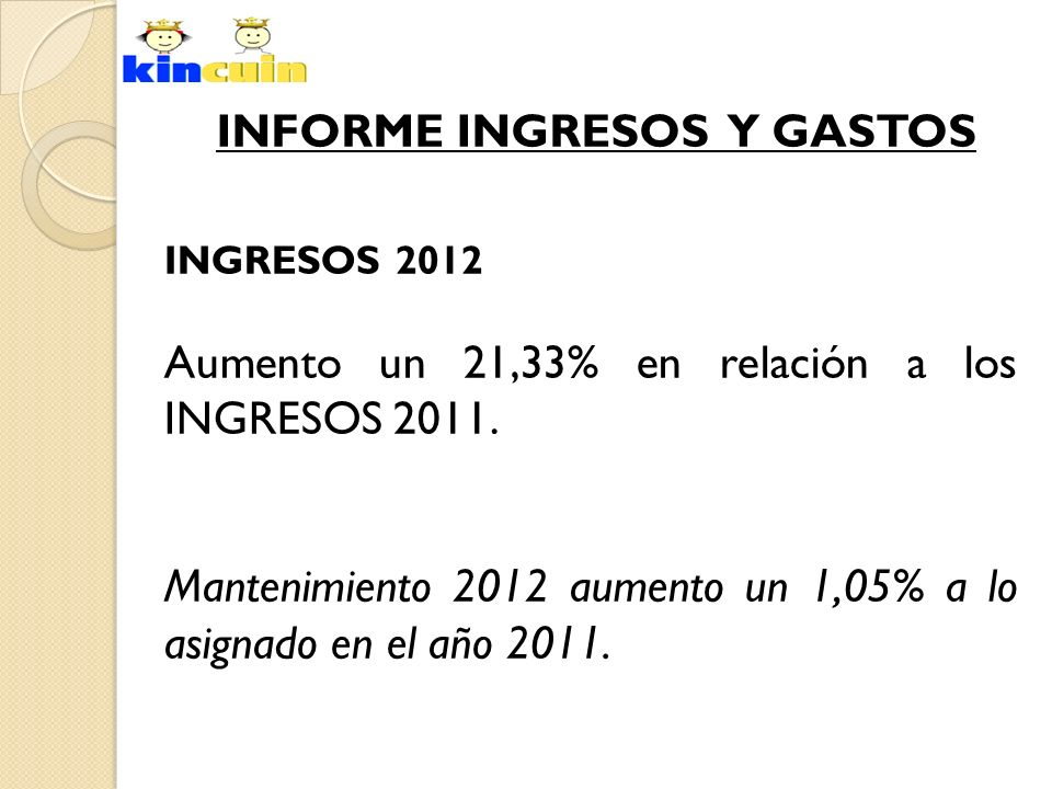 INFORME INGRESOS Y GASTOS