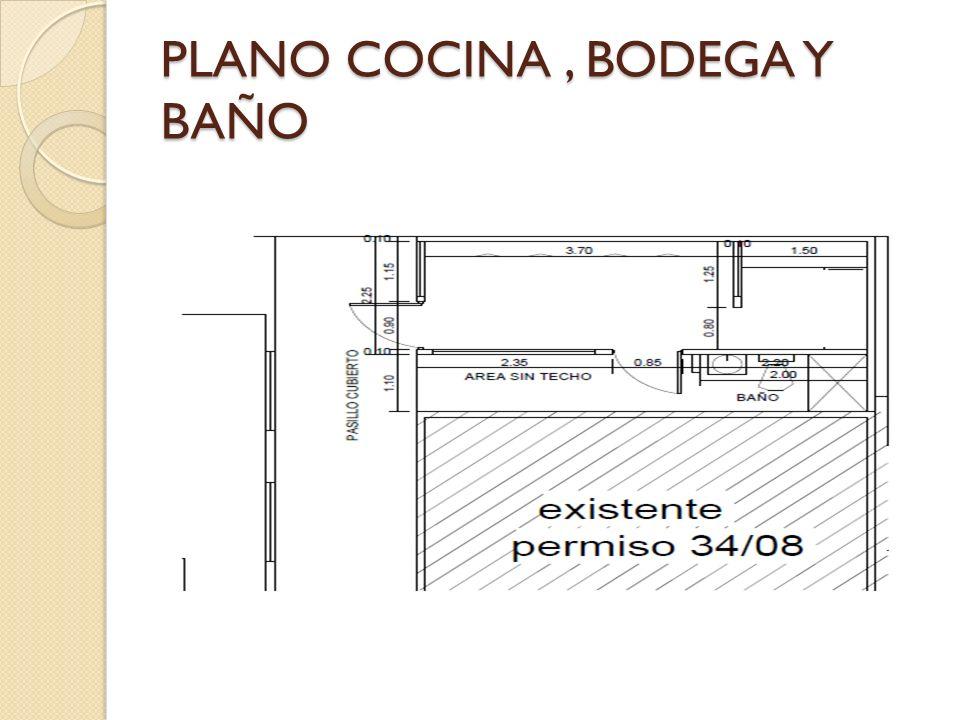 PLANO COCINA , BODEGA Y BAÑO