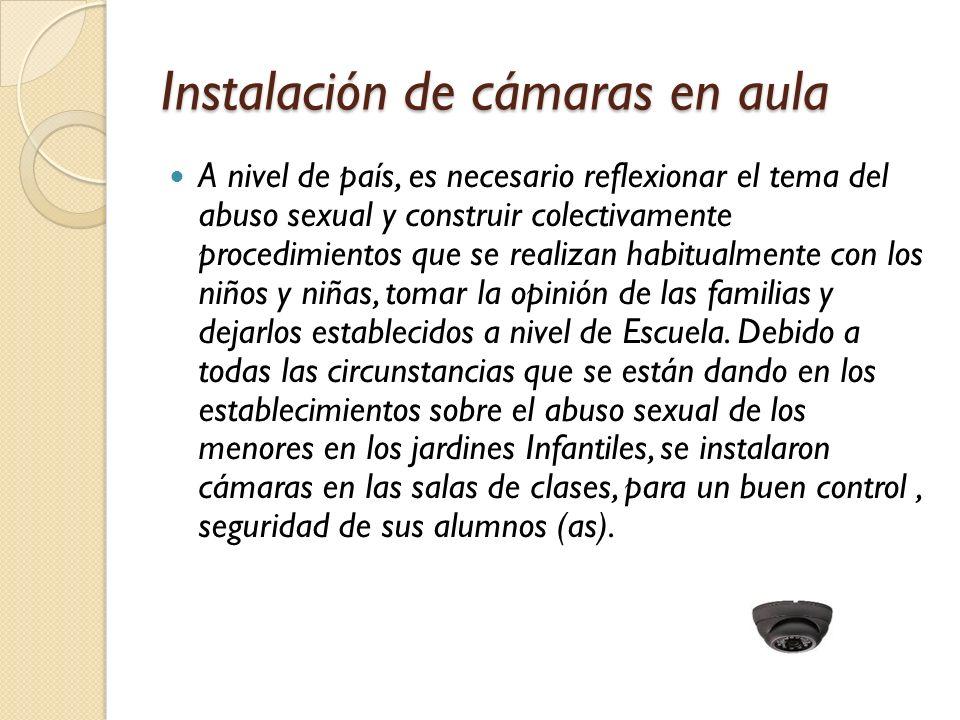 Instalación de cámaras en aula