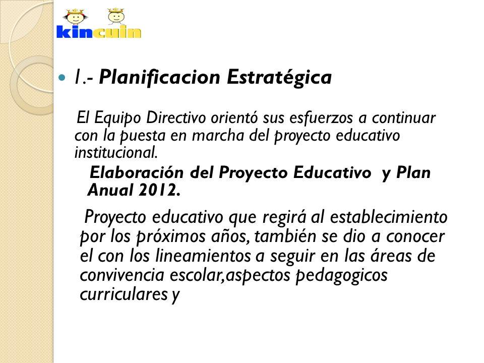 1.- Planificacion Estratégica