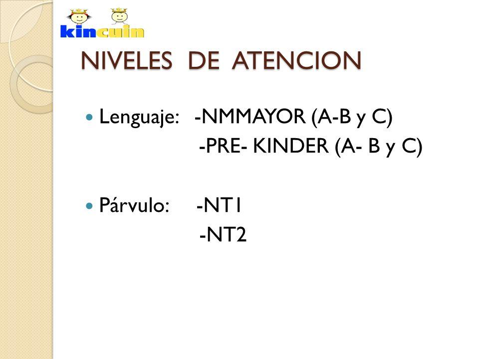 NIVELES DE ATENCION Lenguaje: -NMMAYOR (A-B y C)