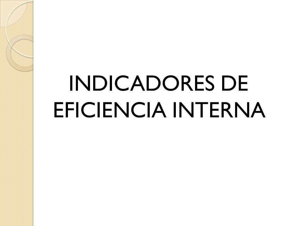 INDICADORES DE EFICIENCIA INTERNA