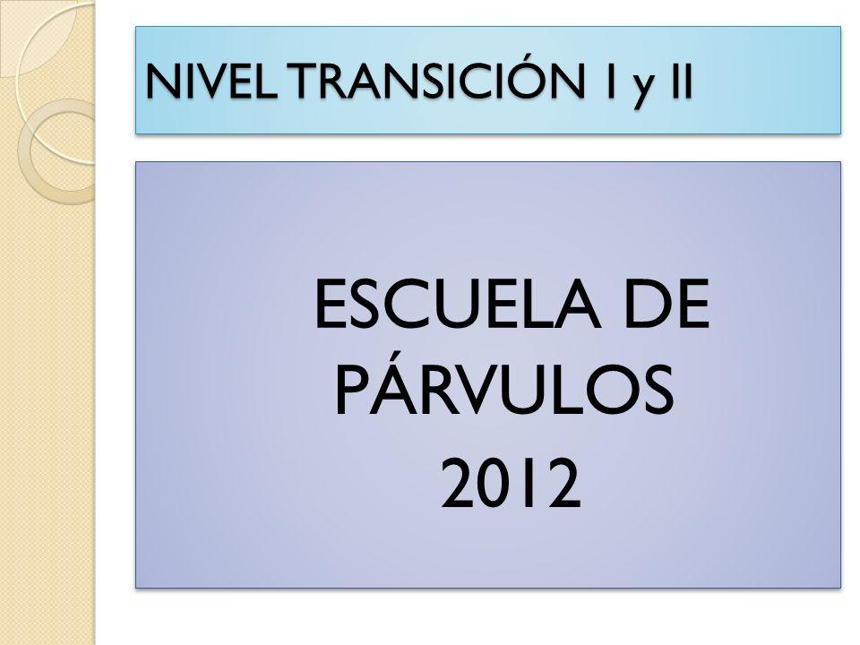 NIVEL TRANSICIÓN I y II ESCUELA DE PÁRVULOS 2012