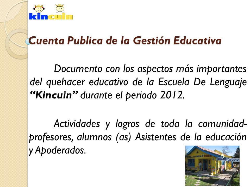 Cuenta Publica de la Gestión Educativa