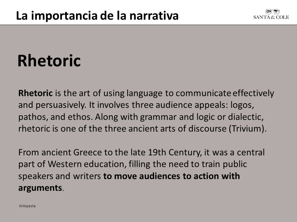 Rhetoric La importancia de la narrativa