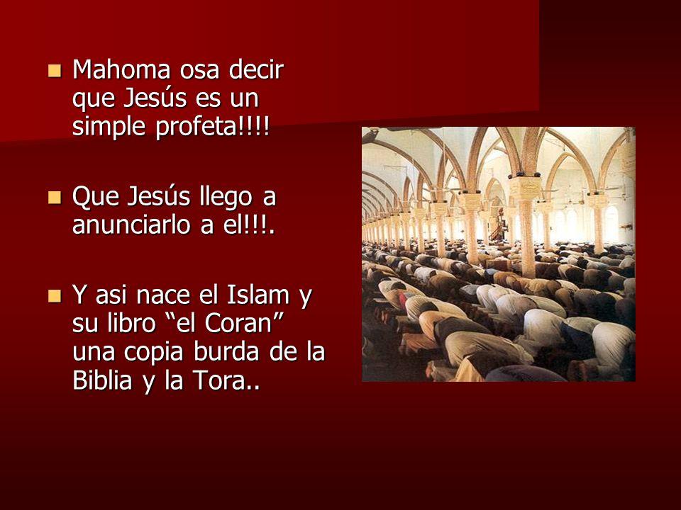 Mahoma osa decir que Jesús es un simple profeta!!!!
