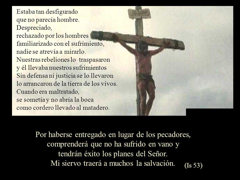 Por haberse entregado en lugar de los pecadores,