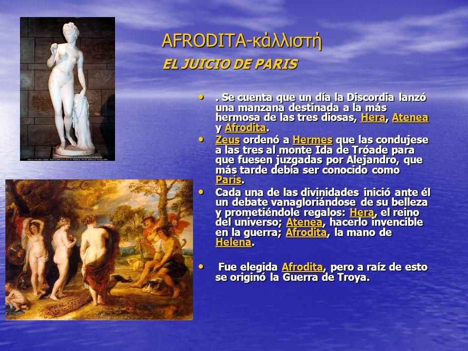 AFRODITA-κάλλιστή EL JUICIO DE PARIS