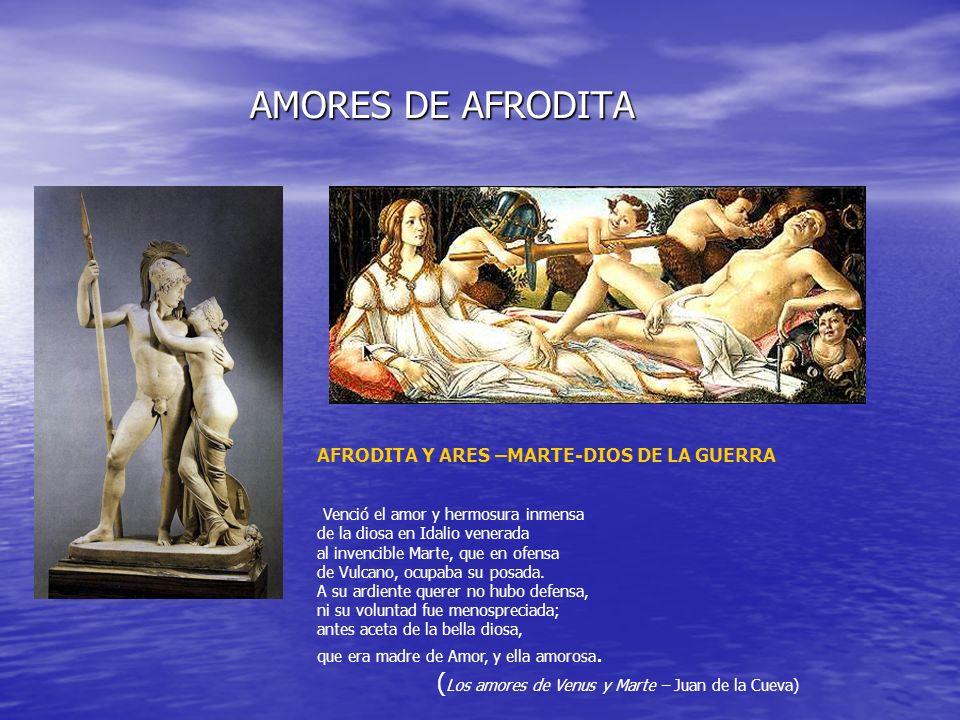 AMORES DE AFRODITA (Los amores de Venus y Marte – Juan de la Cueva)